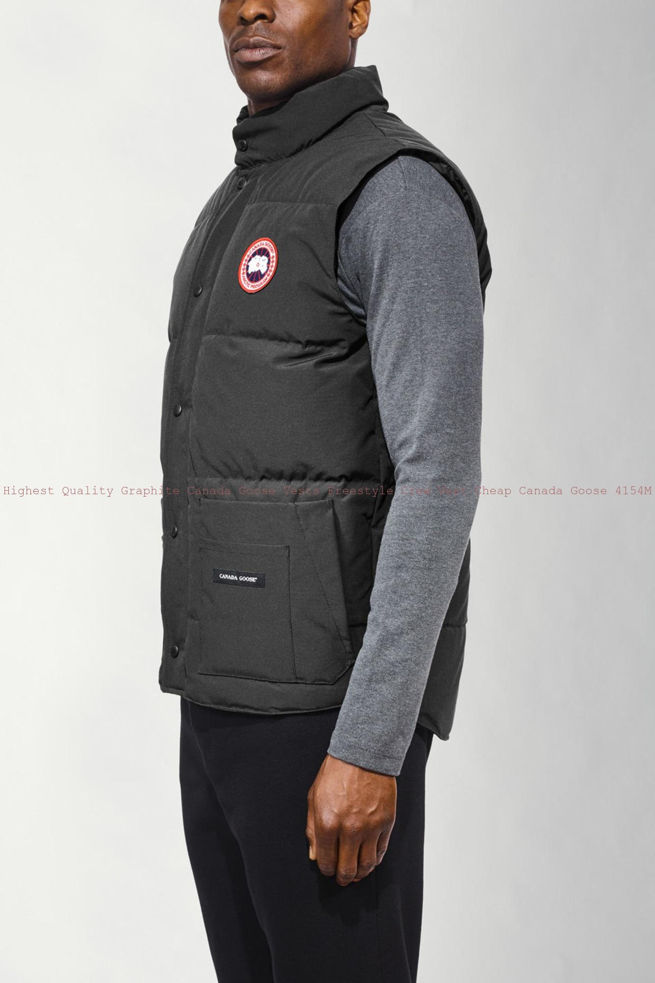 Highest Quality Graphite Canada Goose Vests Freestyle Crew Vest Cheap Canada  Goose 4154M d24ddbb8e11d