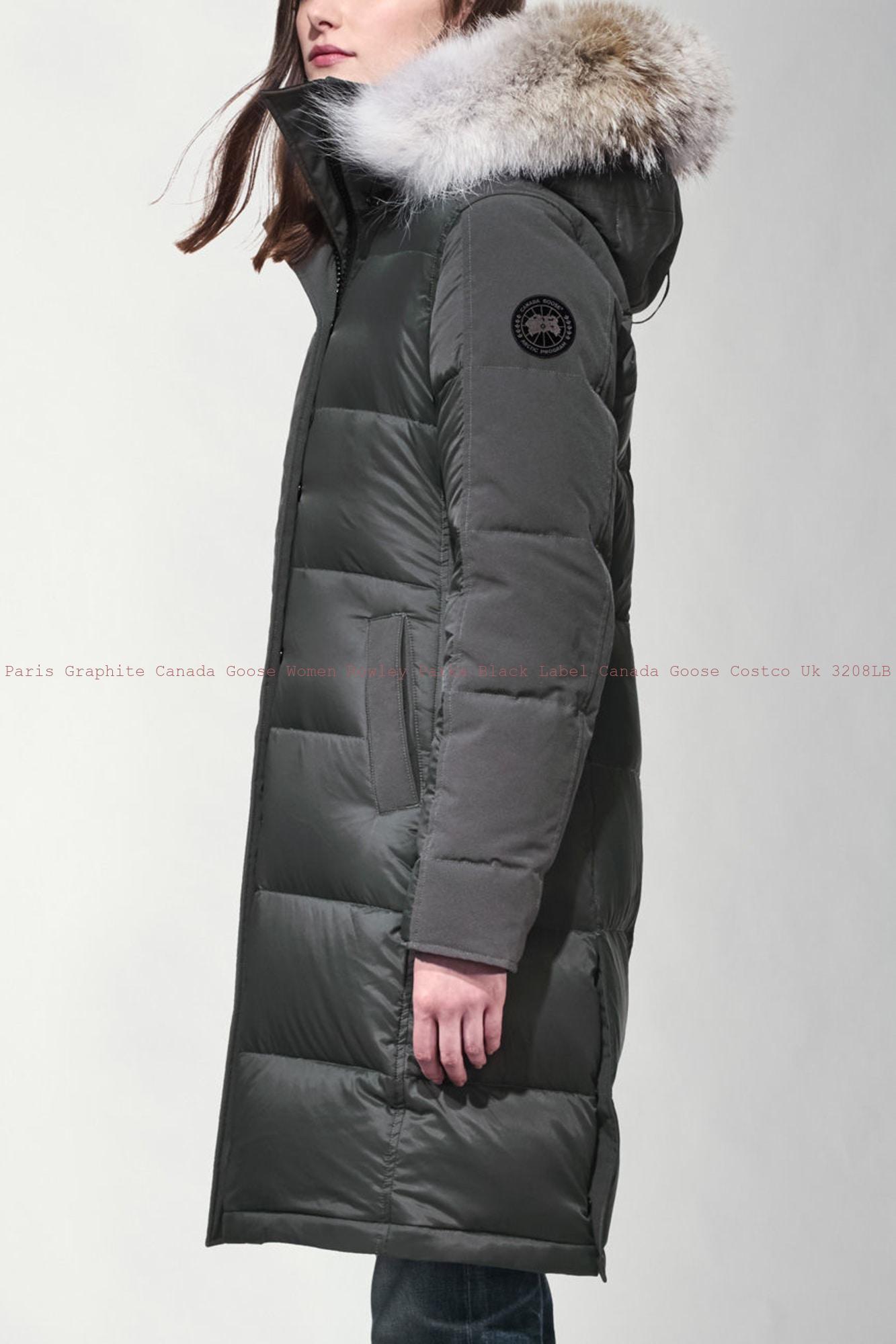 Paris Graphite Canada Goose Women Rowley Parka Black Label Canada Goose  Costco Uk 3208LB bd7f3c0a4